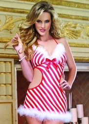 Red Diamond Candy Cane Cutie Babydoll