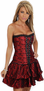 Red Lace Corset Dress