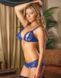 Sapphire Peek A Boo Bra And Crotchless Short Set