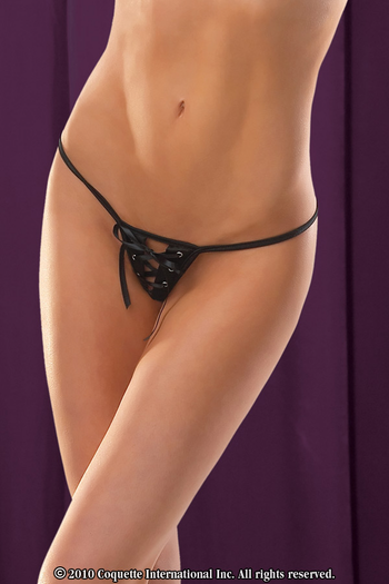 Satin Crotchless G-String