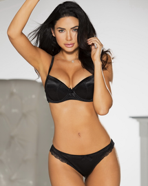 Seams Sensational Black Push Up Bra