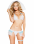 Secret Honeymoon Lace Bra, Panty & Garter Set