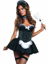 Seducing My Boss 4 PC Sexy Maid Costume