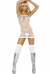 Seducing The Crowd Sexy Net Dress