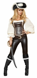 Seductive Pirate Wench Sexy 5 PC Costume