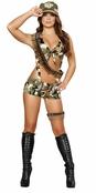 Seductive Soldier Sexy 6 PC Costume