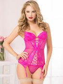 Hot Pink Indecent Bustier Set