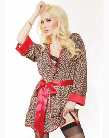 Sexual Stampede Leopard Robe