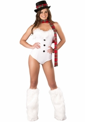 Sexy 3 PC Ice Queen Holiday Costume