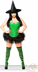 Sexy Green Pin-Up Witch Costume