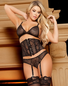 Sexy Night In Bra, Waist Cincher, & Garter Panty Set