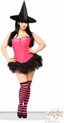 Sexy Pink Pin-Up Witch Costume