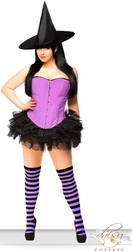 Sexy Purple Pin-Up Witch Costume
