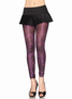 Shimmer Leopard Print Footless Tights