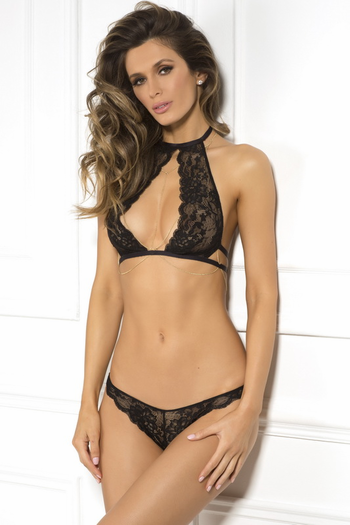 Simple Desires Lace Bralette & Thong Set