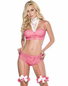 Sleepless Fantasy Princess Sexy Bra, Garter Panty, & Garters Set