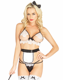So Dirty Cupless French Maid Bedroom Costume Set