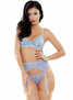 Sparkle Seduction Lace Bra, Garterbelt, & Thong Set