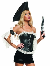 Swashbuckler Seductress Sexy 3 PC Costume