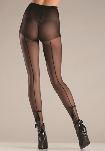fishnet pantyhose with tassel