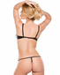 Tempt And Tease Faux Leather Shelf Bra & Thong Set