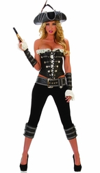 Tempting Pirate Babe Sexy 4 PC Costume