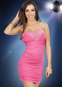 Tickle Me Pink Mini Dress