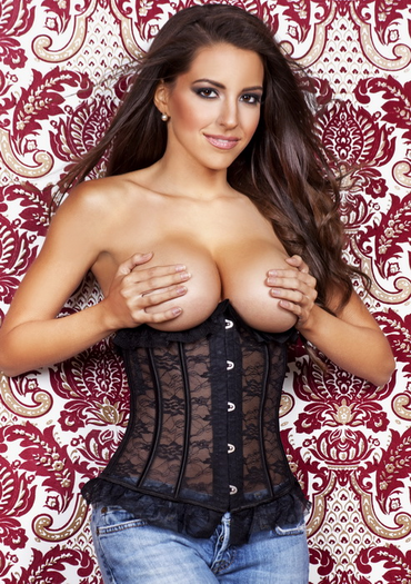 Too Close Black Lace Underbust Corset