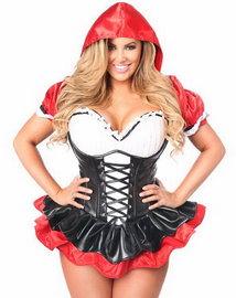Top Drawer Premium Red Riding Hood Corset Costume