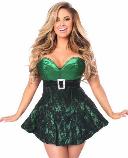 Top Drawer Santa's Favorite Strapless Corset Dress