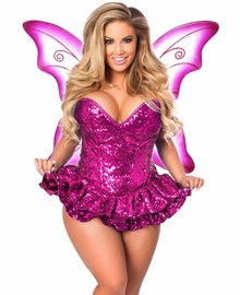 Top Drawer Sequin Pink Fairy Sexy Costume
