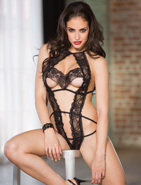 Tulip Lace Crotchless Lace Teddy