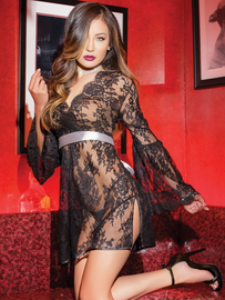 Under My Spell Black Lace Chemise