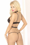 Under Your Spell Black Bra & Thong Panty Set
