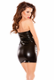 Up Against The Wall Wet Look Mini Dress