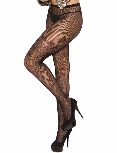 Vertical Scroll Pantyhose