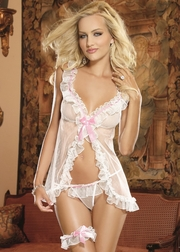 White Diamond Book Of Love Sexy Flyaway Babydoll