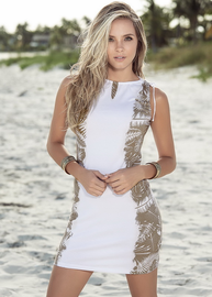 White Sand Beach Summer Dress