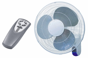 16 Quot 3 Speed Oscillating Wall Mount Fan With Remote