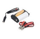 Mobile 400-Watt DC to AC Continuous Power Inverter with Two USB Ports