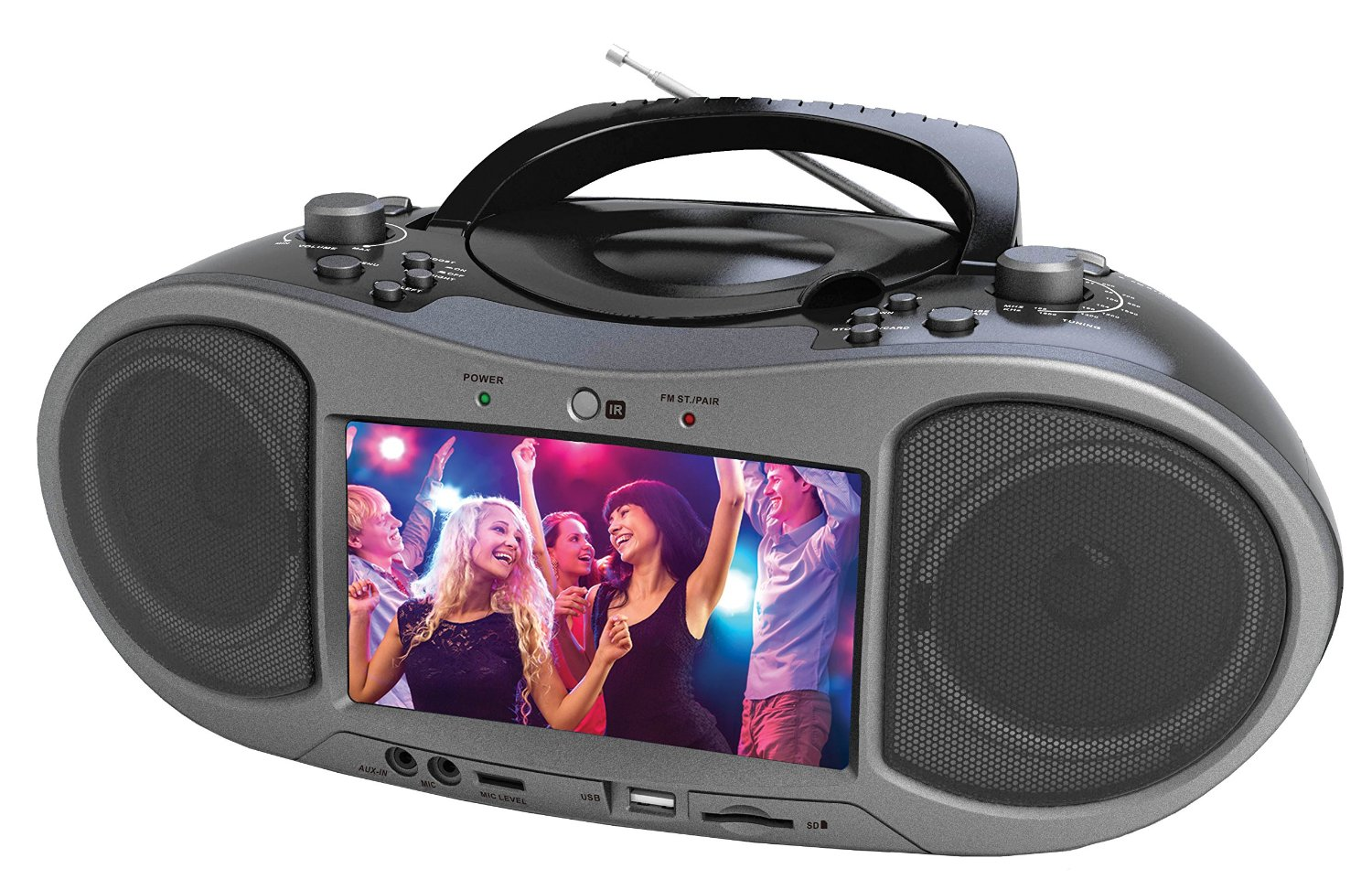 Portable Cd Dvd Player Boombox With 7 Quot Widescreen Lcd Am