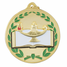 """2 1/2"""" ME Series Color Medals - Academic"""