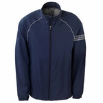 Adidas Golf Custom Men's ClimaProof 3-Stripes Full-Zip Wind Jacket