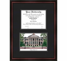 College Diplomate Framed Lithographs with Diploma Openings