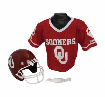 College Youth Football Helmet and Jersey Sets