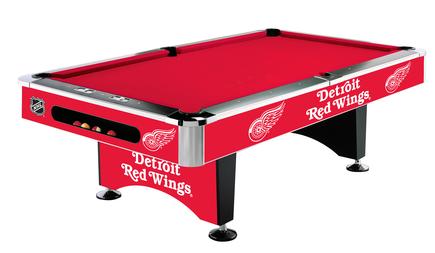 Detroit red wings poker table