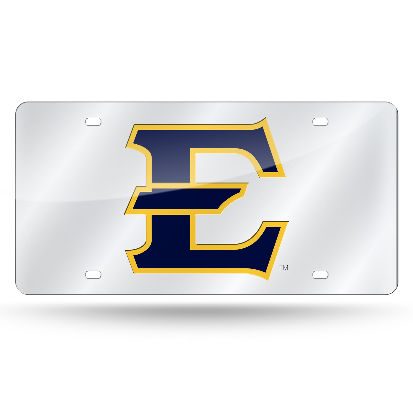 East Tennessee State Buccaneers Silver Laser Cut License Plate