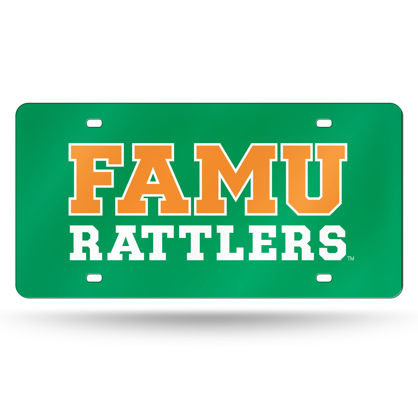 Florida A Amp M Rattlers Green Laser Cut License Plate
