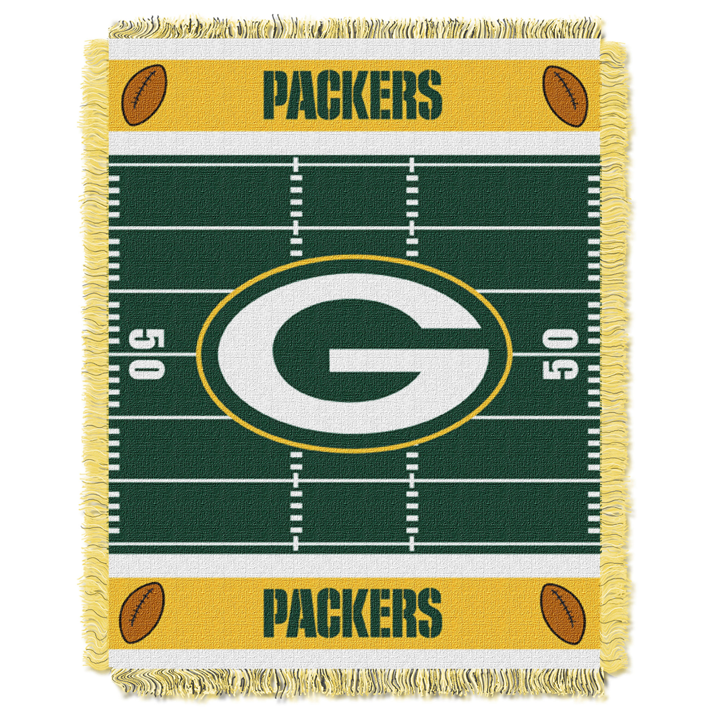brand new 08285 11ee7 Green Bay Packers Field Baby Blanket@Share on green ...