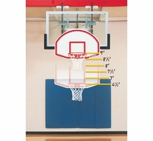 Gymnasium Swing Up Wall Mount Basketball Hoops